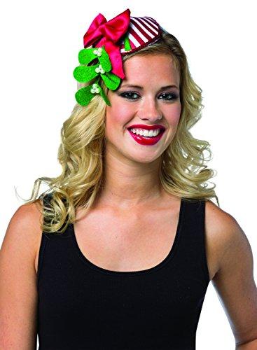 Rasta Imposta 2106 Mehrfarbig gestreiftes Damen-Kopfband mit Mistelzweig, Weihnachten (Einheitsgröße) (Rasta Frau Kostüm)