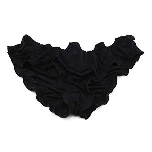 calistous Modisch und bequem Weiches Material Badehose Frauen brasilianisches Cheeky Bikini Bottom String 2x l-purple, schwarz, L-Black (Schwarzen Brasilianischen Bikini Bottom)