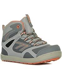Hi Tec Girl's Ridge impermeable Jr caminando botas calzado calzado gris, Gris, 30