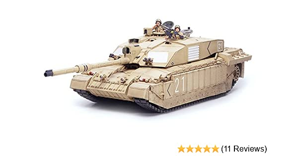 40b1d30a66e5 British Main Battle Tank Challenger 2 Desertised - 1 35 Scale Military -  Tamiya  Amazon.co.uk  Toys   Games