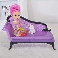 Preisvergleich für Momorain Kinder Baby Mädchen Prinzessin Dreamhouse Sofa Stuhl Möbel Spielzeug für Puppe Barbie (Farbe: lila) (Größe :)