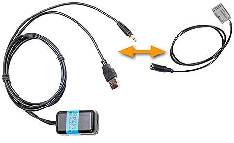 Bluetooth-Adapter zur Erweiterung von Werksradios und HiFi Anlagen ohne Bluetooth. Passend für verschiedene Hersteller und Modelle... Variante: (AUDI (Concert/Symphony), Power over