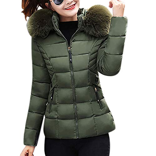 Mantel Winterjacke Damen,Winter Slim Steppjacke Wintermantel Regular Solide Lässig Dicker Winter Slim Down Jacke Mantel Feste Beiläufige Dicker Outwear Parka Mantel Stepp Kurzjacke EVAEVA