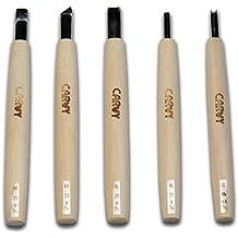 5er Satz Carvy Holzschnitzmesser - Made in Japan