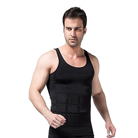 FitnessSun - Herren Strumpfhosen Unterhemd - Kompression Base Layer - Body Shaper Sport Muscle Tank Top - ABS Bauch Slim