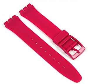 Swatch Colour Code Cool Bracelet de Montre plastique rouge 17mm GR150