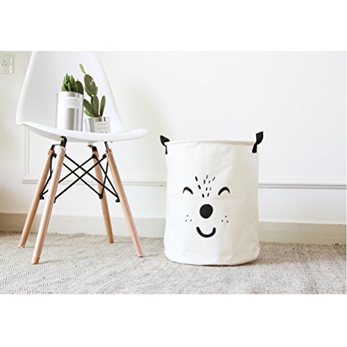 *Inwagui Wäschekorb faltbar Wäschebehälter Wäschetonne Wäschebox faltbar Wäschesack Wäschesammler 35*40cm-Weiß*