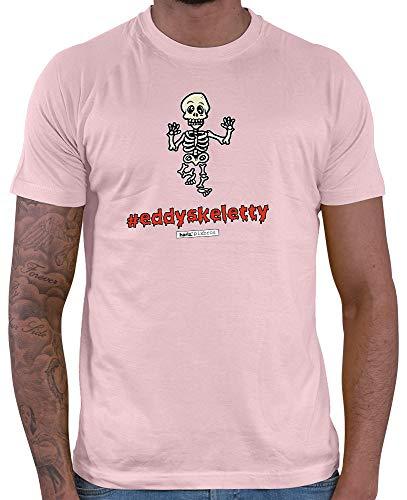 HARIZ  Herren T-Shirt Pixbros Eddyskeletty Halloween Kostüm Horror Umhang Plus Geschenkkarten Rosa M (Ninja Halloween-kostüm Rosa)