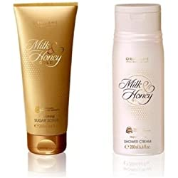 Oriflame Milk & Honey Gold Smoothing Sugar Scrub + shower cream 200ml