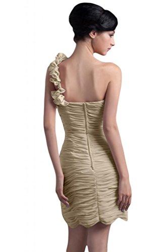 Sunvary donna in Chiffon Una spalla Fodero Birdesmaid corto da Cocktail Party Gowns Champagne