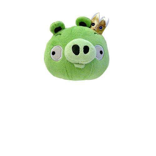 Image of Commonwealth Toys Angry Birds 5 Inch Plush - Green King Pig