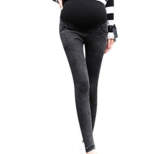 Honestyi Abbigliamento premaman Le Donne Biker Moto Zip Mid High Waist Stretch Skinny Pantaloni Jeans Motore per Le Donne