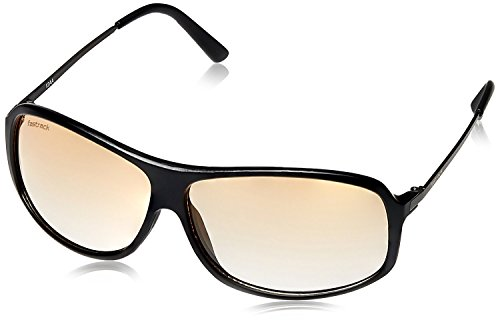 Fastrack Matte Black Navigator Brown Gradient Men Sunglass (P269AM2)  available at amazon for Rs.1695