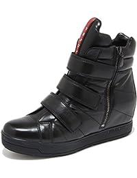 Prada 4492M Sneakers Nere Donna Sport Nappa Sport Zeppe Scarpe Women Shoes 21ae7fdd397