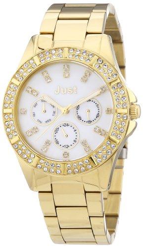 Just Watches 48-S9059WH-GD - Orologio da polso donna, acciaio inox, colore: oro