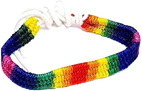 Imagen de eclectic shop uk orgullo gay arcoiris macrame multicolor lgbt lgbtq amistad pulsera playa envolvente alternativa