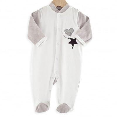 Kinousses pijama para bebé estrella & corazón blanco