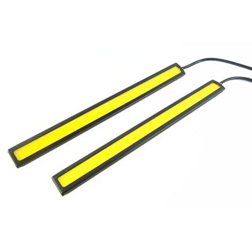 WINOMO 2pcs Voiture Feux De Jour Lampe Ampoule LED COB(Lumière Verte