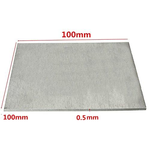 EsportsMJJ Titanlegierung Platte Ta2/Gr2 Titan Platte 0.5 X 100 X 100Mm -