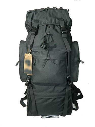 CHT Camuffamento Esterno Di Grande Capienza 65L Borsa Da Viaggio Zaino Alpinismo Maschile 75 * 30 * 20cm Colore Opzionale,Black Black