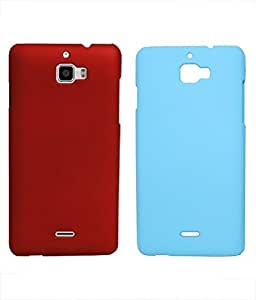 COVERNEW Plastic Back Cover for Micromax A310 Canvas Nitro - Red::Sblue