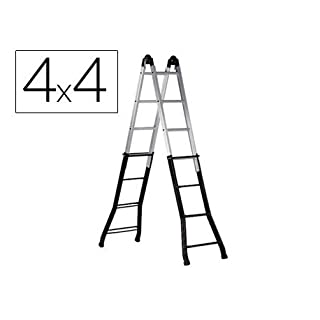 Altipesa Telescopic Ladder 4+4 Rungs - Steel/Aluminium