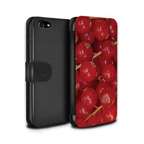 Stuff4 Coque/Etui/Housse Cuir PU Case/Cover pour Apple iPhone 7 / Citron Design / Fruits Juteux Collection Groseille