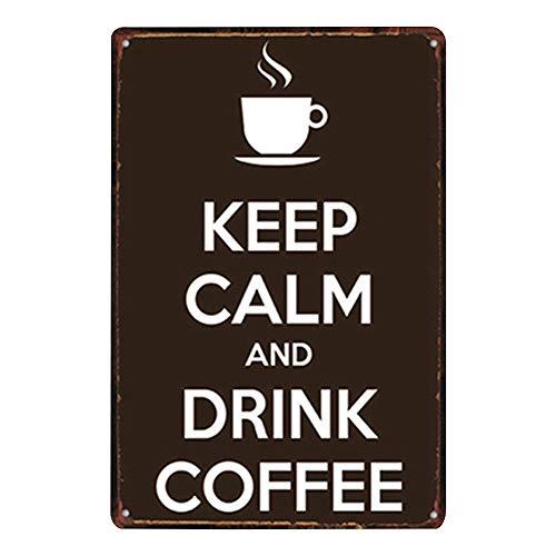 Hacoly Metall Blechschild Eisen Gemälde Vintage-Schild Metallschilder Vintage Kaffee Retro Blechschilder Bar Nostalgic Art Blechschild für Home Shop-Wand-Dekor Wanddeko -