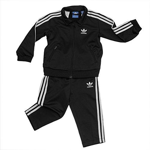 adidas Kinder I Fb Trainingsanzug, Schwarz (Negro/Blanco), 116