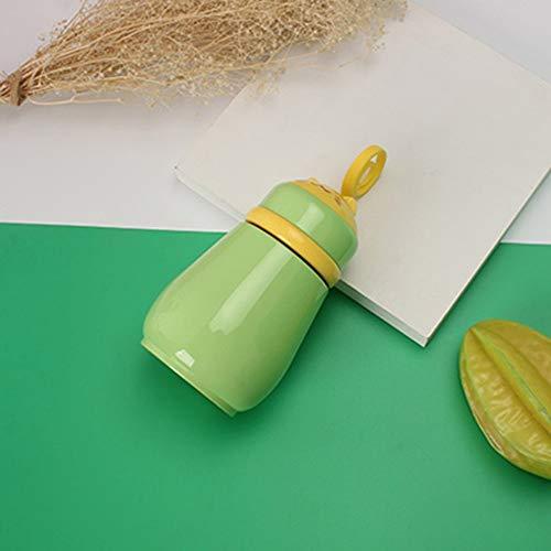 ROIY Tazza Isolante Creativo Simpatico Gatto Tazza in Acciaio Inossidabile Tazza Calda 260 Ml Studentessa Maschio E Femmina Piccola Tazza da tè Portatile A Tenuta Stagna Rosa (Color : Verde)