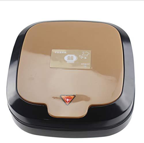 WEIGZ Casa Torta máquina Mini niños Desayuno máquina tostadora de Doble Cara calefacción,Gold