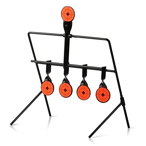 WLXW Indoor-Und Outdoor-Wasserbombe Luftgewehr Paintball Ziel Schleuder Training Automatische Zurücksetzung Ziel Spiel Vertikale Metall Windspiel Ziel