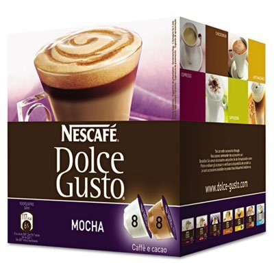Coffee Capsules, Mocha, 2.23 oz., 16 per Box by NESTLE