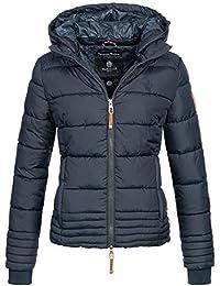 4162bb96e81a Marikoo Damen Winter Jacke Parka Winterjacke Steppjacke Daunen Look Kapuze  warm gefüttert Sole150 XS-XXL