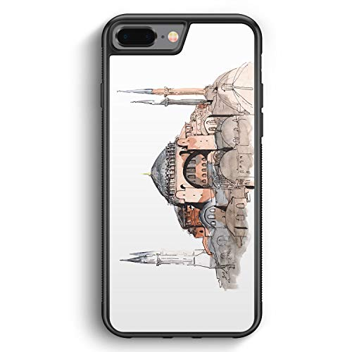 Hagia Sophia Ayasofya Istanbul Türkei - Silikon Hülle für iPhone 8 Plus - Motiv Design Türkiye Cami Islam - Cover Handyhülle Schutzhülle Case Schale