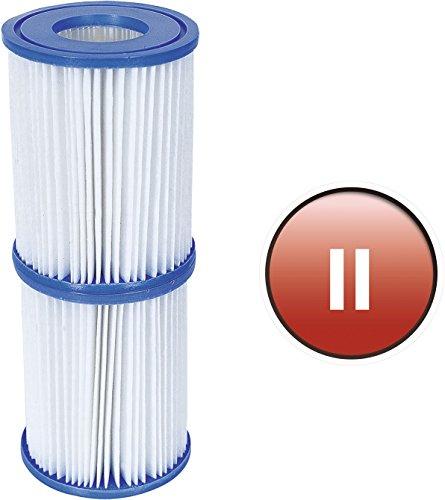 Bestway 58094 Confezione 2 Filtri per Pompa, 58148/58117, bianco