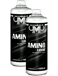 Mammut Aminoliquid, Blutorange, mit Vitamin B6 optimiert, 2er Pack (2 x 1000 ml)