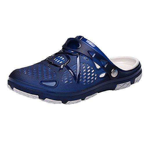 Unisex Outdoor Clog Sandalen Breathable Hausschuhe, Pantoffeln Strandschuhe Slippers Gartenschuhe Badeschuhe Sportschuhe, Atmungsaktiv Mesh Schuhe Flache rutschfest Bequem