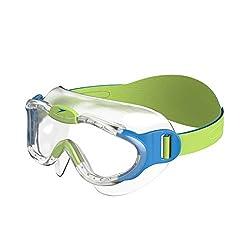 Speedo Unisex - Kinder Schwimmbrille Junior Sea Squad, Blau/Grün, 2-6 Jahres ,8-087638029