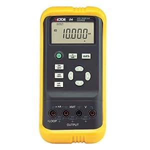 VICTOR 04 V/mA Multimètre Calibrateur portable Auto Gamme Voltmètre Ampèremètre Transducteur analogique 5-chiffre Grand écran LCD