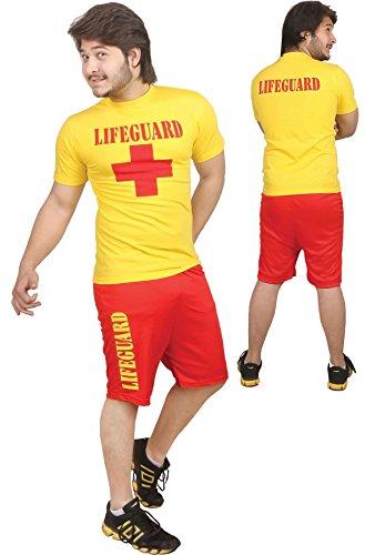 Islander Fashions Mens Leben Guard Miami Beach Life Saver Kost�m Erwachsene Rettung Beach Party Fancy Dress ()
