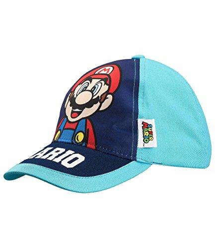 Unbekannt Super Mario Jungen Cap - blau - 52