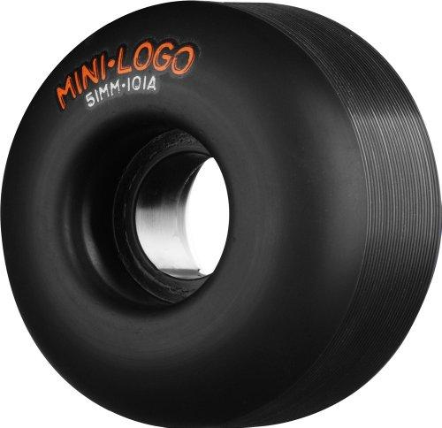 Mini-Logo, Rotelle da skateboard C-Cut 101A, Nero (Schwarz), 54mm