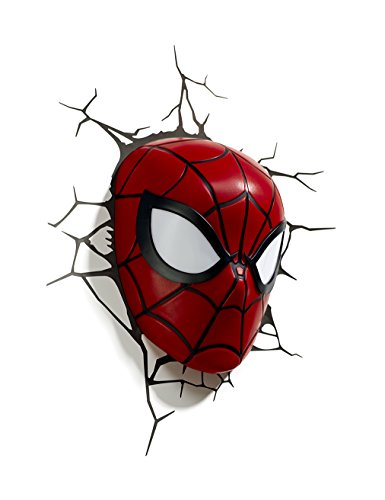 3D Light FX Licht Marvel Spider-Man 3D Deco LED Wandleuchte (Captain America Dekorationen)