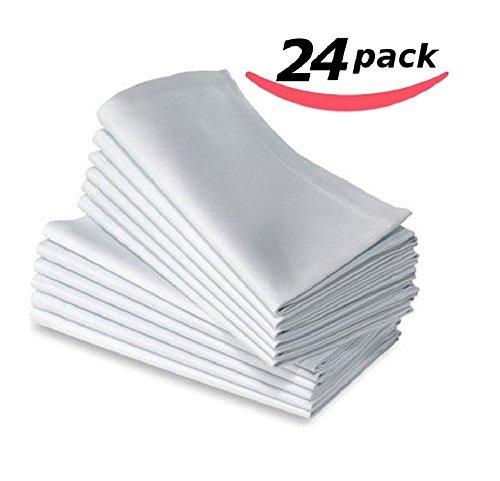 Bella Kline Deluxe weiß Abendessen Servietten weiß - Bulk Polyester-servietten