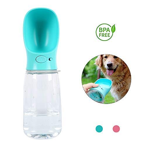 Enjoygoeu Wasserflasche Hund unterwegs Haustier Trinkwasser Leckdichte Hundetrinkflasche Tragbar für unterwegs Outdoor (550ml, Blau)