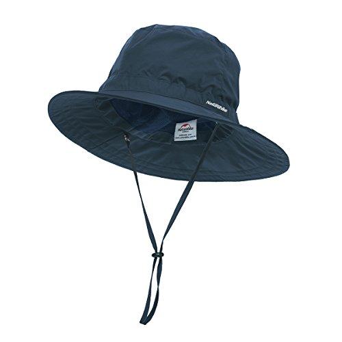 TRIWONDER Pesca Caza Bucket Hat Impermeable Boonie Hat Sun Cap para Hombres Mujeres (Azul Marino)