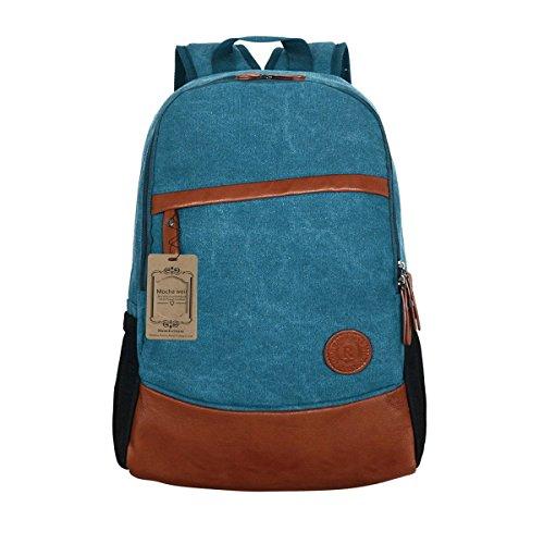 Mocha weir Laptop-Rucksack Buch Taschen Kinder Schule College Reiserucksack (tief blau) blau