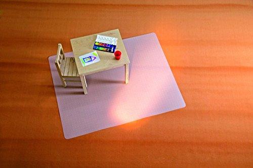 Preisvergleich Produktbild BSM für mittelflorige Teppiche - die milchig transparente Bodenschutzmatte - 12 Größen und Formen zur Auswahl – TÜV geprüft