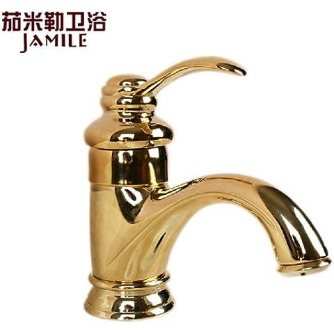 LIVY Vanità di rubinetto europeo americano drago dorato rame bagno